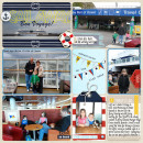 Cruise Digital Scrapbook Page by justine using Project Mouse (At Sea): Bundle by Britt-ish Designs & Sahlin Studio