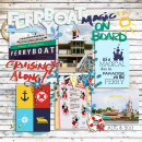 Disney Ferry Boat Digital Scrapbook Page by kat using Project Mouse (At Sea): Bundle by Britt-ish Designs & Sahlin Studio