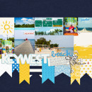 Keywest Digital Scrapbook Page by kat using Project Mouse (At Sea): Bundle by Britt-ish Designs & Sahlin Studio