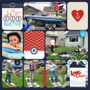 Just Add Water Digital Scrapbook Page by kelsy using Project Mouse (At Sea): Bundle by Britt-ish Designs & Sahlin Studio