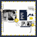 Love You More Digital Scrapbook Page by Damayanti using P.S. I Love You (Kit) by Sahlin Studio
