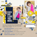 Love You More Digital Scrapbook Page by Tronesia using P.S. I Love You (Kit) by Sahlin Studio