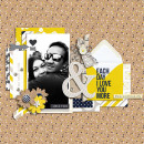 Love Digital Scrapbook Page by scrappydonna using P.S. I Love You (Kit) by Sahlin Studio