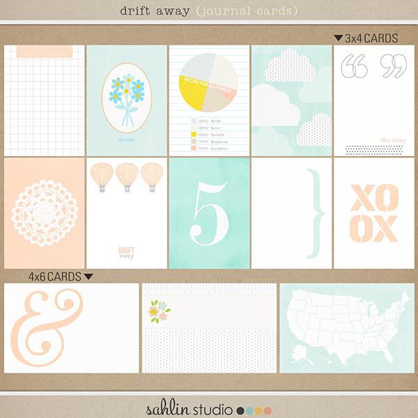 drift away (journal cards) by sahlin studio
