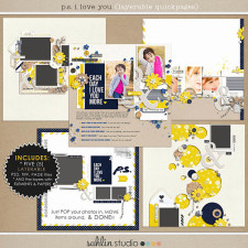 P.S. I Love You (Layered Quickpages) by Sahlin Studio