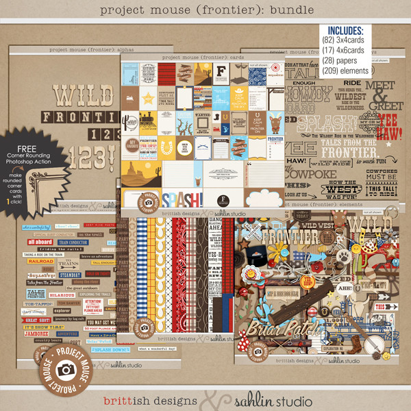 Project Mouse (Frontier): BUNDLE by Britt-ish Designs and Sahlin Studio