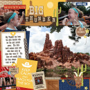 """Disney Big Thunder Mountain digital page by MelindaS featuring """"Project Mouse: Frontier"""" by Britt-ish Designs and Sahlin Studio"""