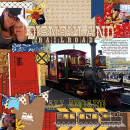 """Disney Railroad Train digital scrapbook page by clemmon03 featuring """"Project Mouse: Frontier"""" by Britt-ish Designs and Sahlin Studio"""