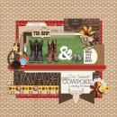 "Cowboy Boots digital page by fonnetta featuring ""Project Mouse: Frontier"" by Britt-ish Designs and Sahlin Studio"