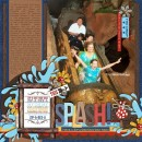 """Disney Splash Mountain digital page by jan featuring """"Project Mouse: Frontier"""" by Britt-ish Designs and Sahlin Studio"""