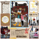 "Disney Cowboy Donald Meet & Greet digital Project Life page by justine featuring ""Project Mouse: Frontier"" by Britt-ish Designs and Sahlin Studio"