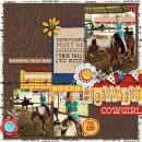 "Horseback Riding Digital scrapbook page by mamatothree featuring ""Project Mouse: Frontier"" by Britt-ish Designs and Sahlin Studio"