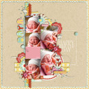Digital Scrapbook Page by britt featuring Paint Swatch Templates by Sahlin Studio