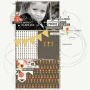 Captured digital scrapbook page by KatherineB featuring Flashback by Sahlin Studio