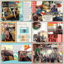 Digital Project Life Layout by editorialdragon featuring Flashback by Sahlin Studio