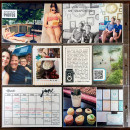 June Everyday Photos Digital Project Life Layout by kristasahlin featuring Flashback by Sahlin Studio