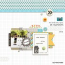 Snapshots digital scrapbook page by margelz featuring Flashback by Sahlin Studio
