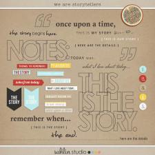 we are storytellers word art pack by sahlin studio