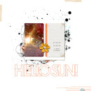 Hello Sun Digital Scrapbook Page by AnaPaula featuring Hello Sun by Sahlin Studio