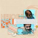 Summer Fun Digital Scrapbook Page by dotcomkari featuring Hello Sun by Sahlin Studio