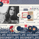 Document Life digital scrapbook layout by Damayanti featuring Documentary by Sahlin Studio