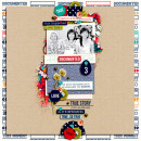 Today digital scrapbook layout by icajovita featuring Documentary by Sahlin Studio