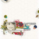 Captured digital scrapbook layout by louso featuring Documentary by Sahlin Studio