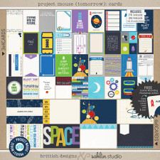 Project Mouse (Tomorrow): Journal Cards by Britt-ish Designs & Sahlin Studio - Perfect for Disney Tomorrowland, Space Mountain, Monsters Inc, in your Project Life albums!