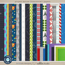 Project Mouse (Tomorrow): Papers by Britt-ish Designs & Sahlin Studio - Perfect for Disney Tomorrowland, Space Mountain, Monsters Inc!