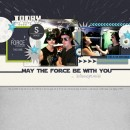 Star Wars - May The Force Be With You digital scrapbook page by fonnetta2 featuring Project Mouse (Tomorrow) by Britt-ish Designs and Sahlin Studio