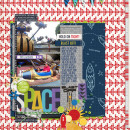Disney Tomorrowland AstroBlaster ride digital scrapbook page by neeceebee featuring Project Mouse (Tomorrow) by Britt-ish Designs and Sahlin Studio