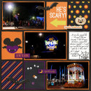 Disney Halloween digital project life page by MelanieB featuring Project Mouse: Villains (cards & autographs) by Britt-ish Designs and Sahlin Studio