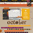 October digital scrapbook page by melrio featuring Project Mouse: Villains (cards & autographs) by Britt-ish Designs and Sahlin Studio