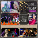 Disney's Not So Scary Halloween Party Project Life page by rlma featuring Project Mouse: Villains (cards & autographs) by Britt-ish Designs and Sahlin Studio