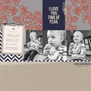 Fall digital scrapbook layout created by EHStudios featuring autumn frost by sahlin studio