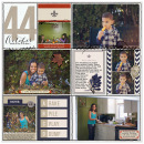 Fall digital project life page created by mrivas2181 featuring autumn frost by sahlin studio