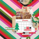 December digital layout by Damayanti featuring making spirits bright: (collection) by sahlin studio