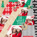 Oh what fun digital scrapbook layout by Damayanti featuring making spirits bright: (collection) by sahlin studio