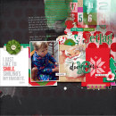 Season for jet lag digital scrapbook page by amberr featuring making spirits bright: (collection) by sahlin studio