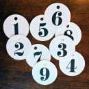 counting down: number tags by sahlin studio - Printed to use on Holiday Gifts!