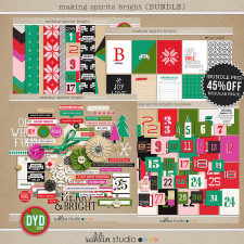 making spirits bright: (BUNDLE) by sahlin studio Perfect for using in your December Daily or Project Life albums!