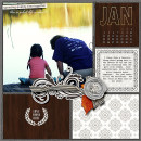 January digital pocket scrapbooking page by mimisgirl featuring Chesterfield Kit by Sahlin Studio