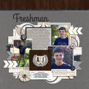 Freshman digital scrapbook page by norton94 featuring Chesterfield Kit by Sahlin Studio