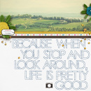 LIfe is Pretty Good digital scrapbook page by sucali featuring Moments Templates by Amy Martin and Sahlin Studio