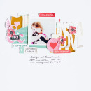 InstaLove hybrid scrapbooking page by 3littleks using MPM Hello and Add Ons by Sahlin Studio