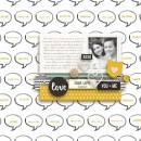 Our Life digital scrapbooking page by margelz using MPM Hello and Add Ons by Sahlin Studio