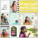 Shine Bright digital pocket scrapbooking page by mrivas2181 featuring Photo Journal No. 1 (Word Arts & Templates) by Sahlin Studio