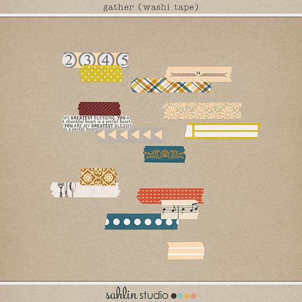 Gather (Washi Tape) by Sahlin Studio