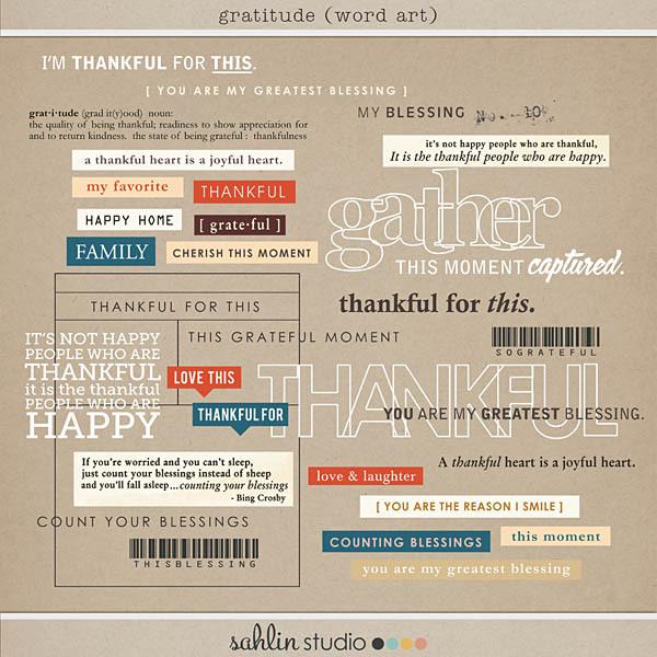 Gratitude (Word Art) by Sahlin Studio