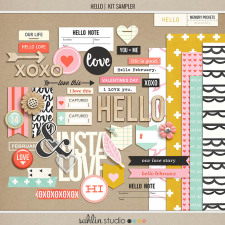 HELLO (Kit Sampler) by Sahlin Studio - Perfect for adding to your Project Life album or your Memory Pocket Monthly Subscription!!